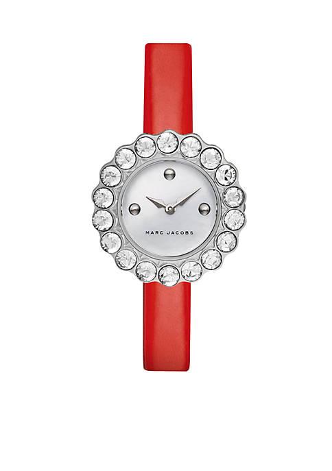 Womens Tootsie Red Patent Leather Glitz Watch