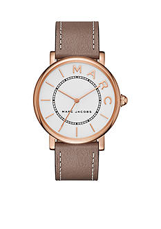 Marc Jacobs Women's Roxy Rose Gold-Tone and Cement Leather Three-Hand Watch