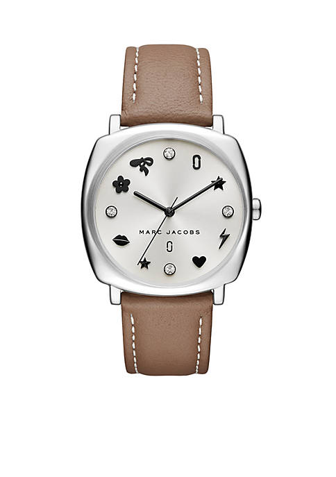 Marc by Marc Jacobs Womens Silver-Tone Mandy Leather