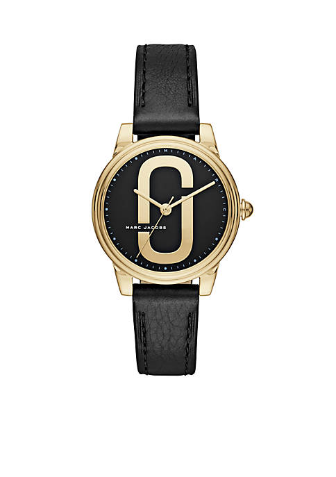 Marc by Marc Jacobs Womens Gold-Tone Corie Black