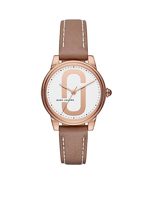Marc by Marc Jacobs Womens Rose Gold-Tone Corie