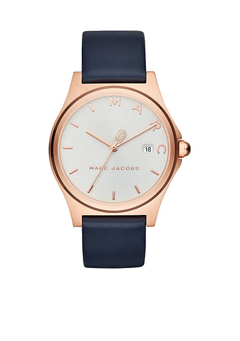 Marc by Marc Jacobs Womens Rose Gold-Tone Henry