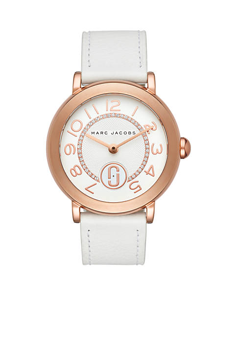 Marc by Marc Jacobs Womens Rose Gold-Tone Riley