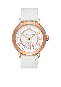 Women's Rose Gold-Tone Riley Leather Strap Watch