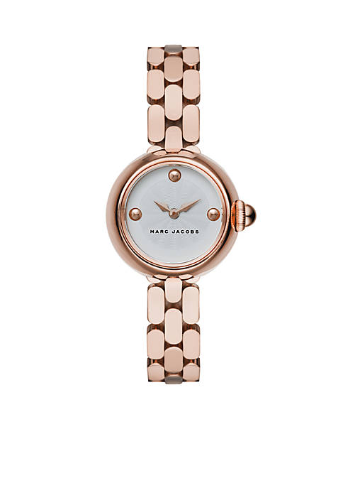 Marc by Marc Jacobs Womens Courtney Rose Gold-Tone