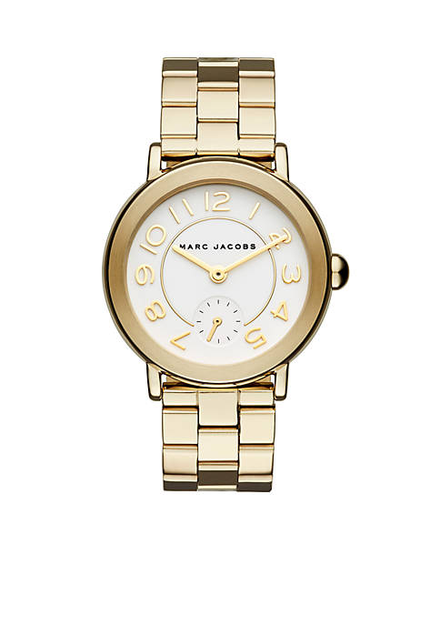 Marc by Marc Jacobs Womens Riley Gold-Tone Stainless
