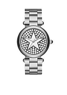 Women's Dotty with Star Silver Stainless Steel Bracelet Watch