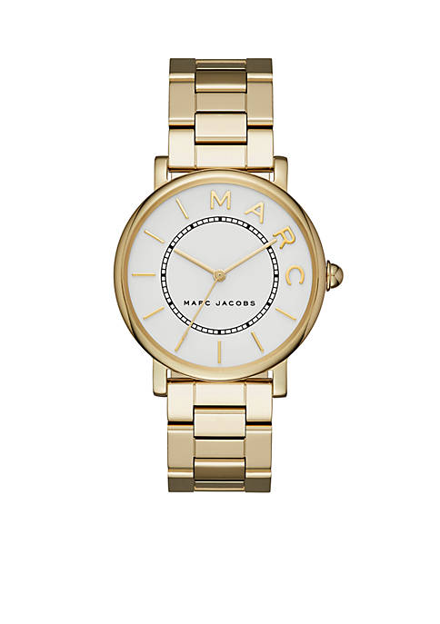 Marc by Marc Jacobs Womens Roxy Gold-Tone Three-Hand