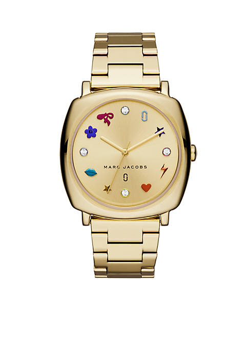 Marc by Marc Jacobs Womens Gold-Tone Mandy Three-Hand