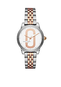 Women's Two-Tone Corie Three-Hand Bracelet Watch
