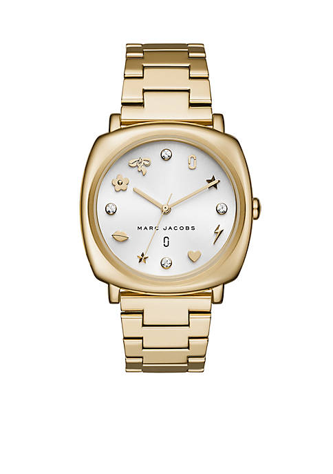 Marc by Marc Jacobs Womens Gold-Tone Mandy Watch