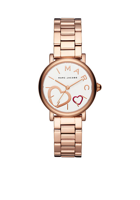 Marc by Marc Jacobs Womens Rose Gold-Tone Classic