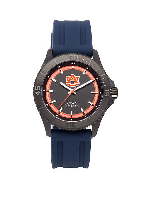 Jack Mason Mens Auburn Blackout Silicone Strap Watch