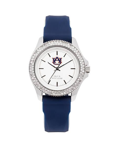 Womens Auburn Glitz Silicone Strap Watch