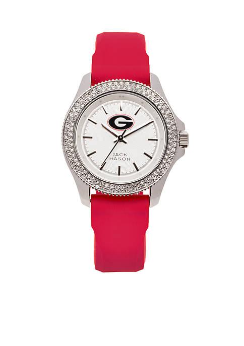Jack Mason Womens Georgia Glitz Silicone Strap Watch