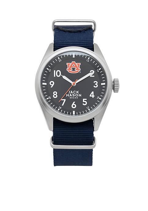 Mens Auburn Nato Solid Strap Watch