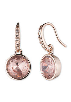 Lonna & Lilly Rose Gold-Tone Stud Drop Earring