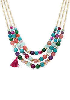 Lonna & Lilly Gold-Tone Multi-Colored Beaded Necklace