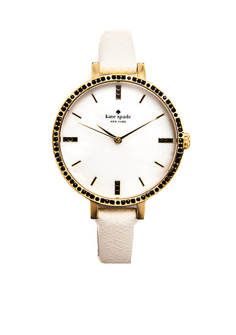 kate spade new york® Womens Gold-Tone Stainless Steel