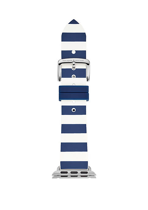 kate spade new york® Striped Silicone Apple Watch®