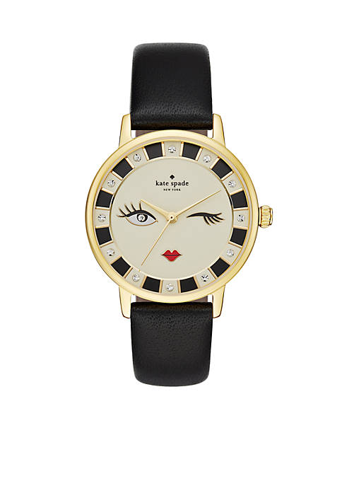 kate spade new york® Metro Black Leather Strap