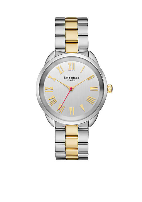 Crosstown Two-Tone Stainless Steel Bracelet Three-Hand Watch