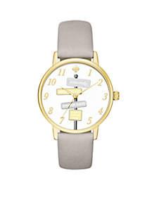 Women's Metro Novelty Grey Leather Watch