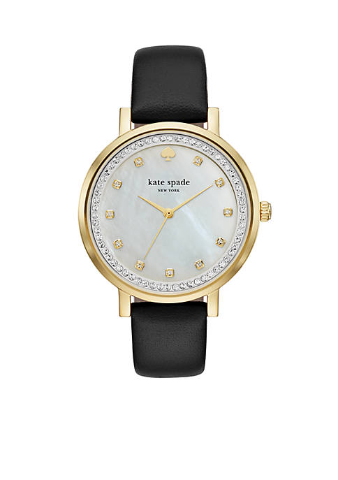 kate spade new york® Womens Gold-Tone Monterey Black