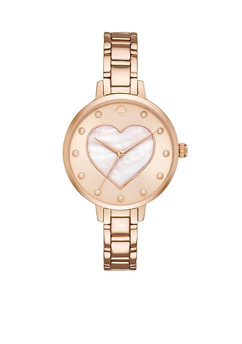 Rose Gold-Tone Metro Watch