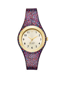 Women's Gold-Tone Rumsey Multi-Colored Silicone Watch