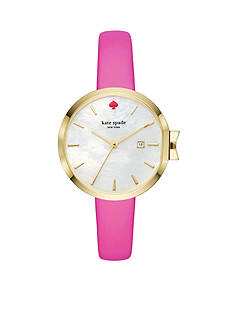 kate spade new york® Women's Pink Leather Park Row Watch