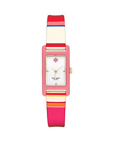 kate spade new york® Women's Silicone Duffy Square Watch