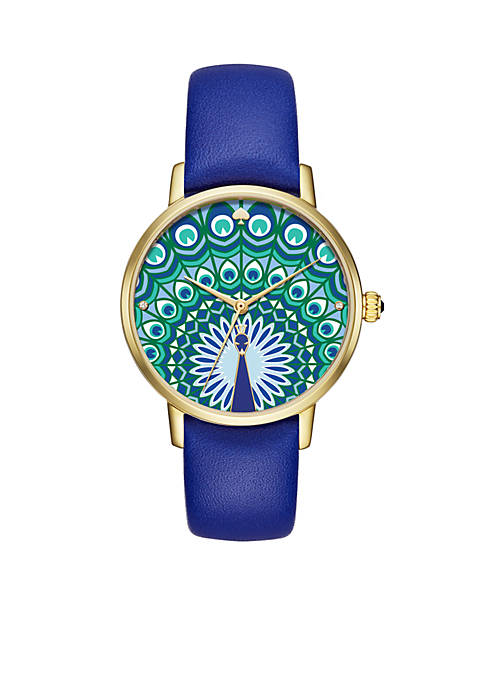 kate spade new york® Gold-Tone Leather Metro Watch