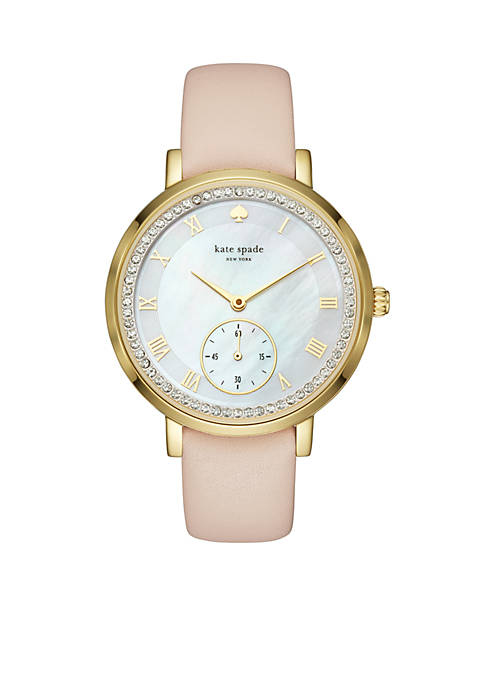 kate spade new york® Gold-Tone And Vachetta Leather
