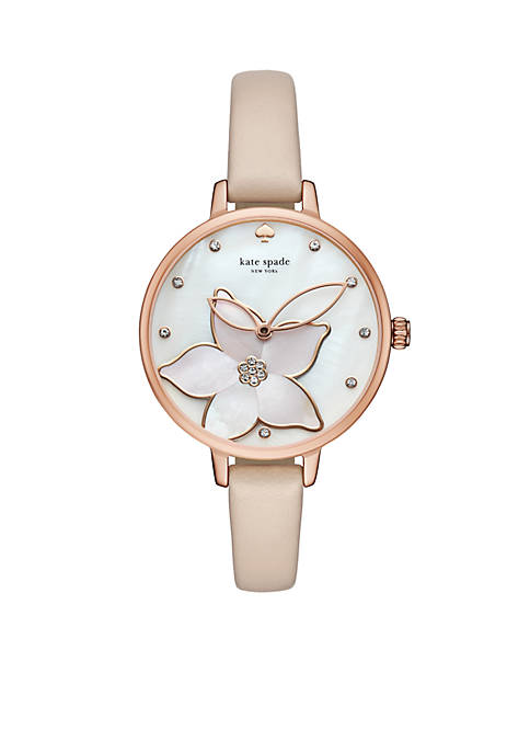 kate spade new york® Rose Gold-Tone And Vachetta