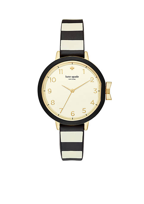 kate spade new york® Silicone Park Row Watch