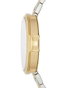 Kate Spade New York Womens Two Tone Park Row Bracelet Watch