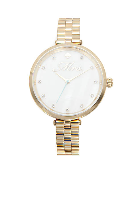kate spade new york® Gold-Tone Holland Mrs. Watch