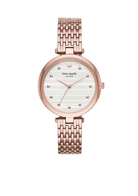 kate spade new york® Womens Rose Gold-Tone Stainless