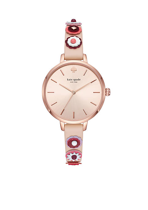 kate spade new york® Rose Gold-Tone Metro Three-Hand