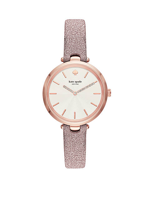 Rose Gold-Tone Holland Three-Hand Fabric Watch