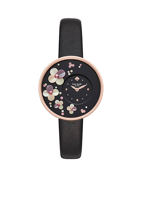 kate spade new york® Gold-Tone Metro Floral Black