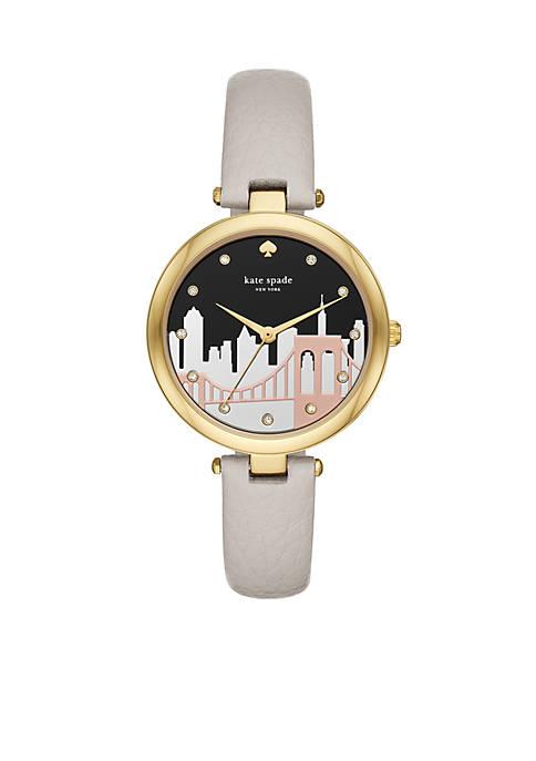 kate spade new york® Gold-Tone Varick Cityline Gray