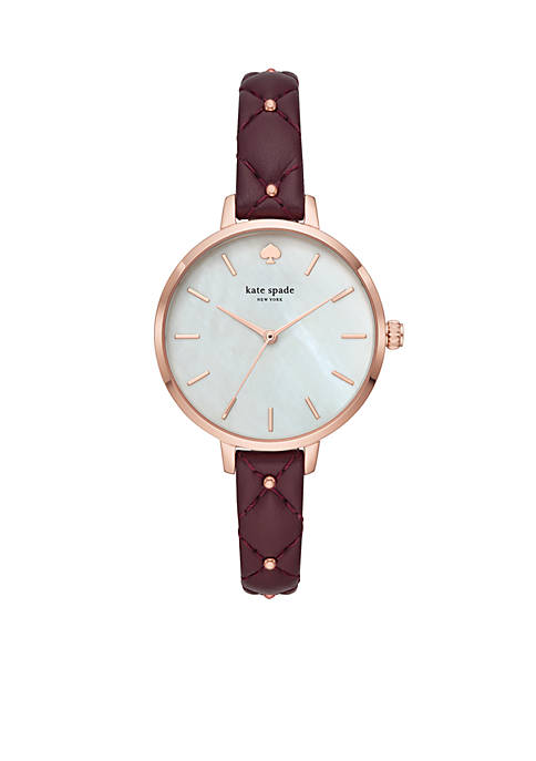kate spade new york® Rose Gold-Tone Metro Quilted