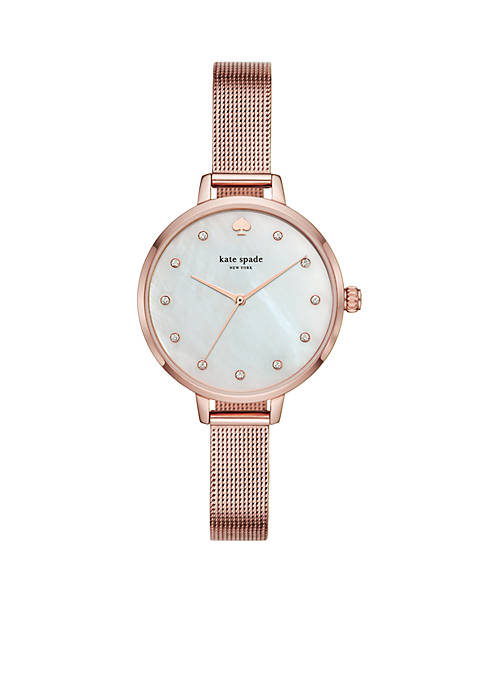 Rose Gold-Tone Stainless Steel Metro Mesh Watch