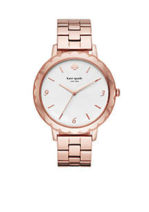 Rose Gold-Tone Stainless Steel Morningside Scallop Bracelet Watch