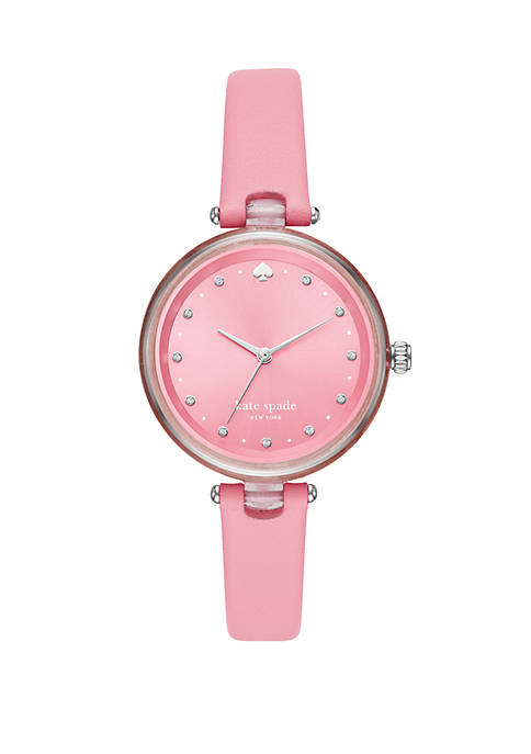 Holland 3 Hand Pink Leather Watch