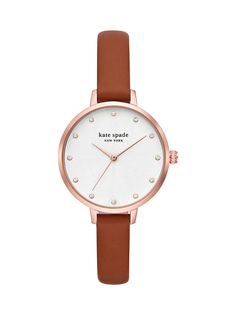 kate spade new york® Metro Leather Strap Watch
