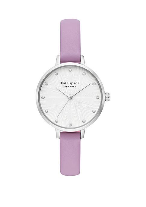 kate spade new york® Metro Leather Watch