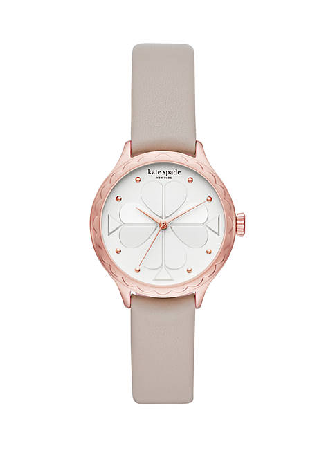 kate spade new york® Rosebank Leather Strap Watch